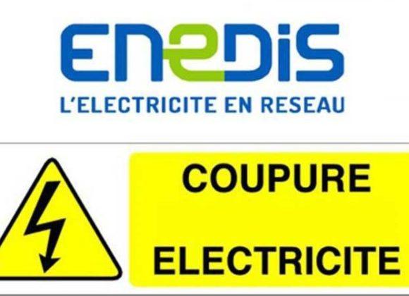Coupure d'électricité par ENEDIS