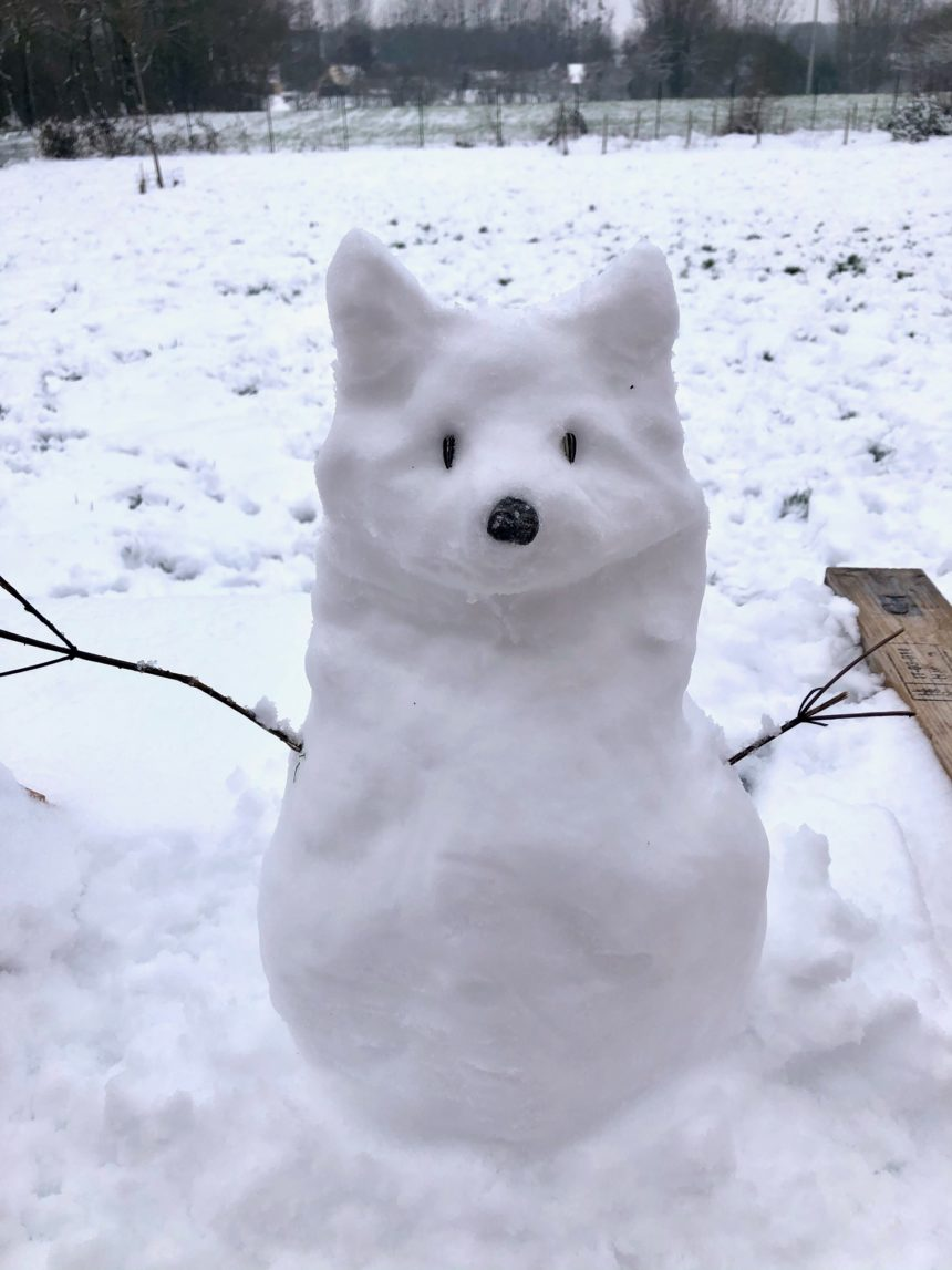Les jolis bonhommes de neige de St Christophe !