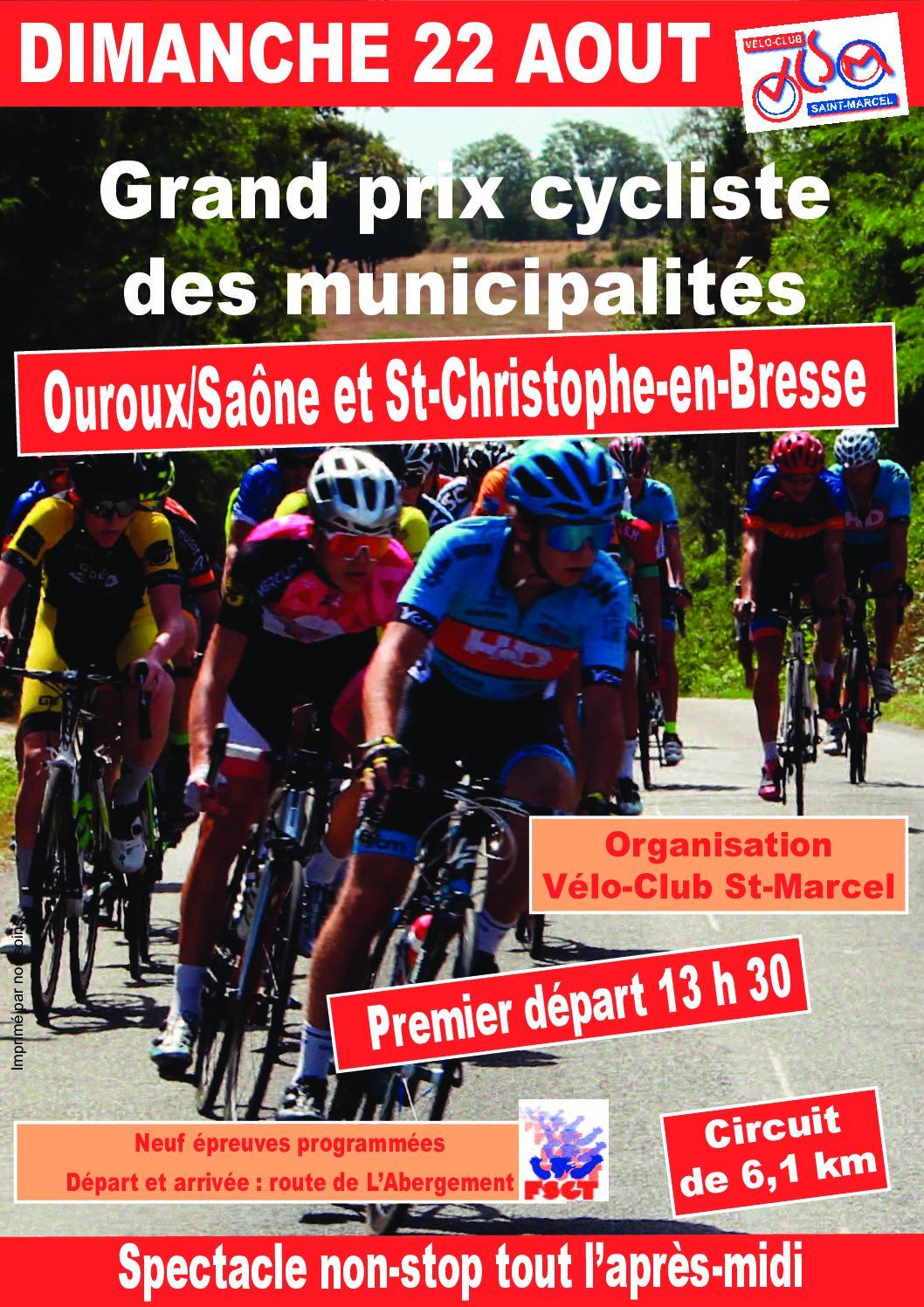 Course cycliste – dimanche 22 août
