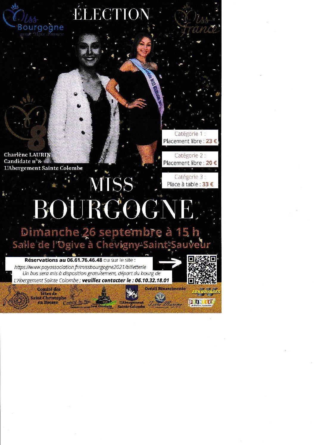 Charlène LAURIN – Election Miss Bourgogne 2021
